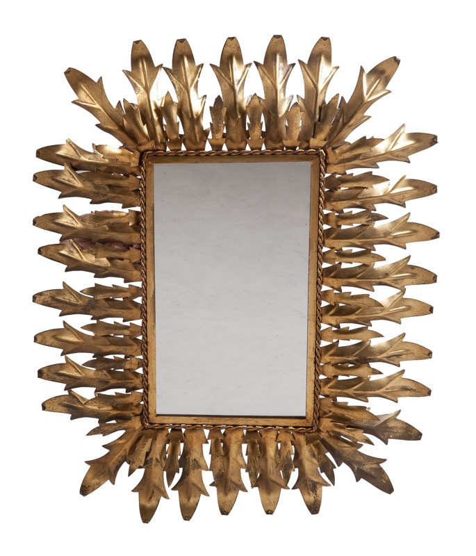 A gilded metal mirror, 1960s