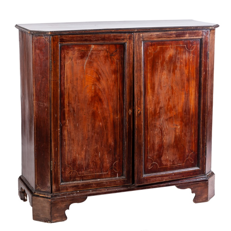 A mahogany side cabinet, 19th Century