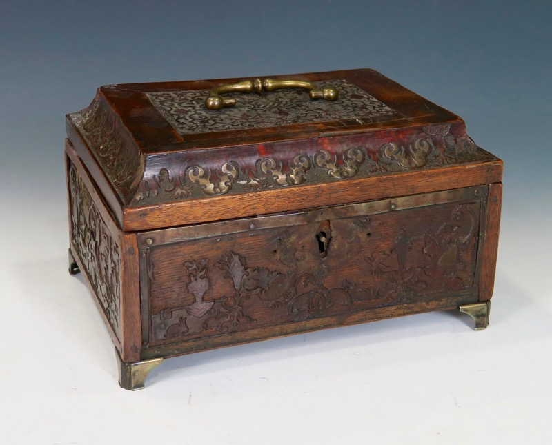 "A French ""Boulle"" marquetry box