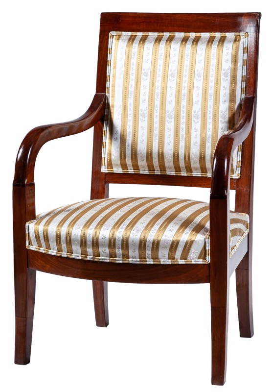 A French Empire mahogany armchair, Early 19th Century