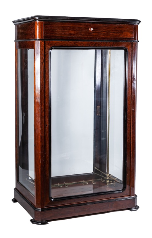 A glass and mahogany gun cabinet, Late 19th Century