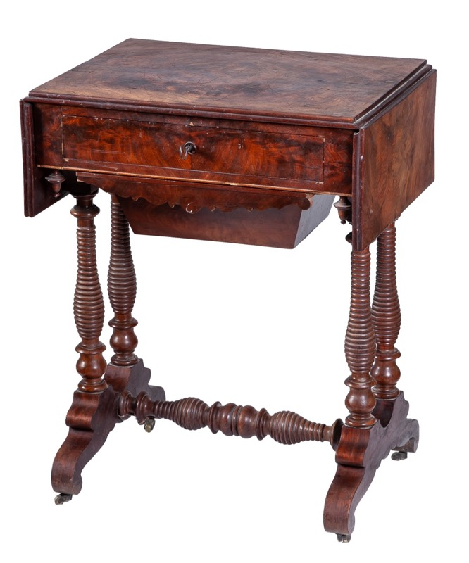 A mahogany sewing table, 19th Century