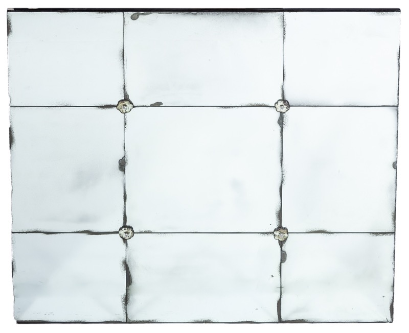 A mirror made by different square pieces