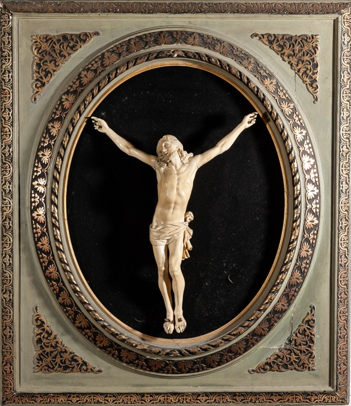 "A carved ivory ""Crucified Christ"", 19th - 20th Century