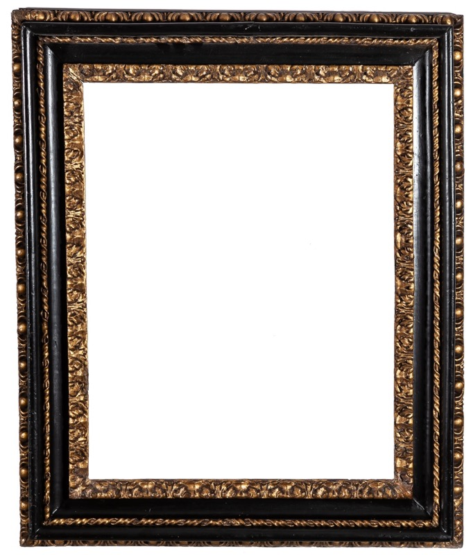 A gilded and ebonised wood frame, possibly England 18th Century