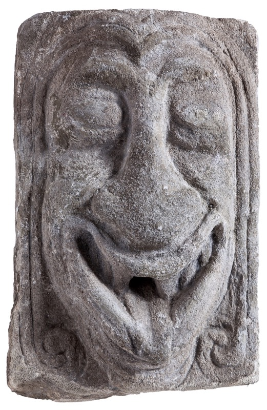 A sandstone mascaron in Manierist style, 17th Century and later