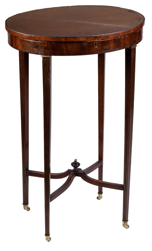 A brazz-mounted mahogany side table, 19th Century