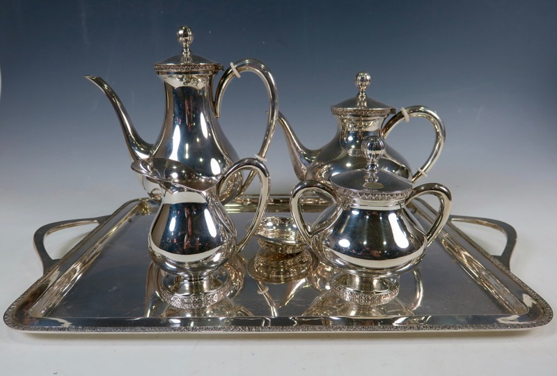 A silver tea and coffee set, 20th Century