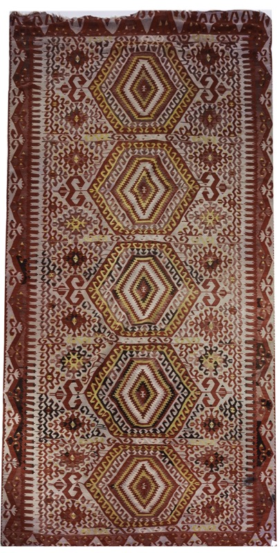 A red field kilim
