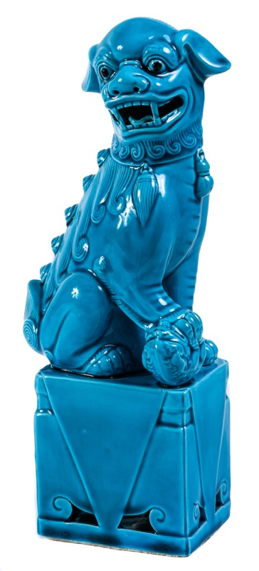 A Chinese turquoise-glazed guardian lion
