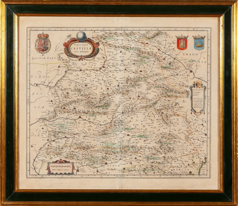 A coloured map of Castille